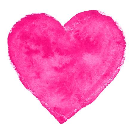 Pink Watercolor Heart, vector illustration Stock Vector - 24940663