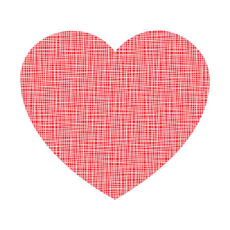 Red Heart Canvas Texture Vector