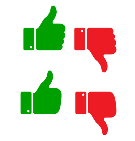up: set of thumb up icons
