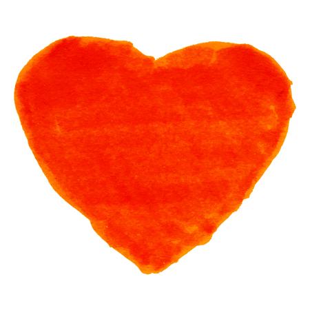 felt: Red Felt Pen Heart, vector illustration  Illustration