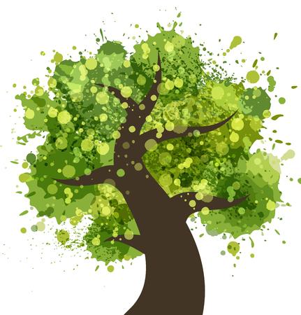 colorful tree: Grunge colorful tree Illustration