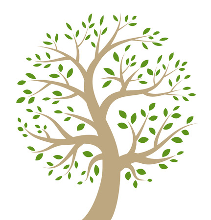 Stylized colorful tree icon