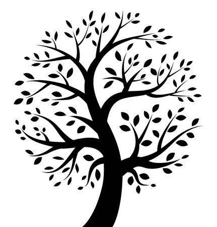 arbol genealógico: Árbol negro icono Vectores