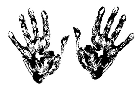 Black Hand Prints Vector