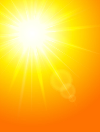 rise and shine: Sun background, vector illustration