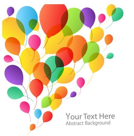 birthday backdrop: Balloons Background, vector illustration