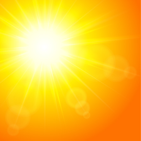 Sun background, vector illustration   Vector