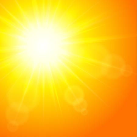 Sun background, vector illustration   Vector