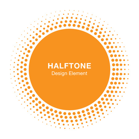 halftone cover: Sunny Halftone Design Element, vector illustration