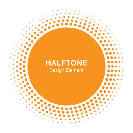 sol: Sunny Halftone Elemento de diseño, ilustración vectorial