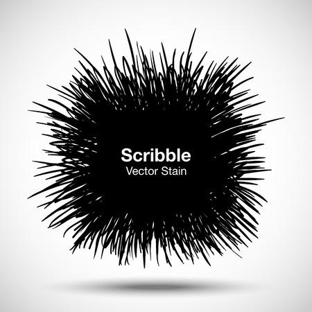 arcs: Hand Drawn Scribble Shape, vector design element  Illustration