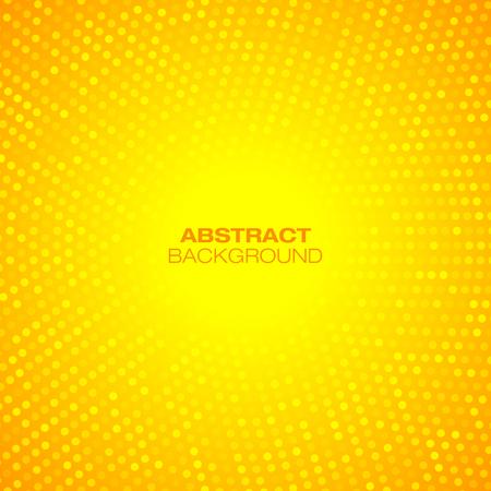抽象的な円形のオレンジ色の背景。ベクトル図