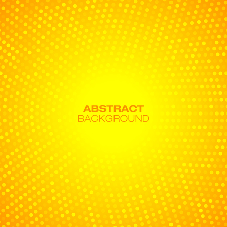 yellow: Abstract Circular Orange Background. Vector illustration