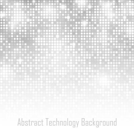 抽象的な灰色テクノロジー グロー背景。ベクトル イラスト