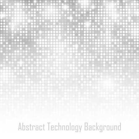 grey scale: Abstract Gray Technology Glow Background. Vector illustration