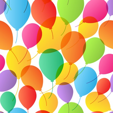 Seamless Pattern. Balloons background. Vector Illustration Vector