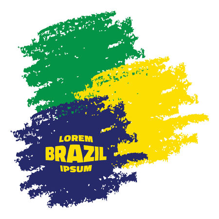 Grunge Smears, using Brazil flag colors. Vector illustration Vector