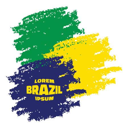 smears: Grunge Smears, using Brazil flag colors. Vector illustration