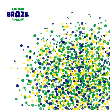 world cup: Abstract dot background using Brazil flag colors. Vector illustration