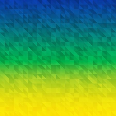 ブラジルの国旗の色を使用して背景を抽象化、ベクトル イラスト