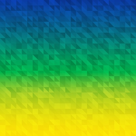 Abstract Background using Brazil flag colors, vector illustration Illustration