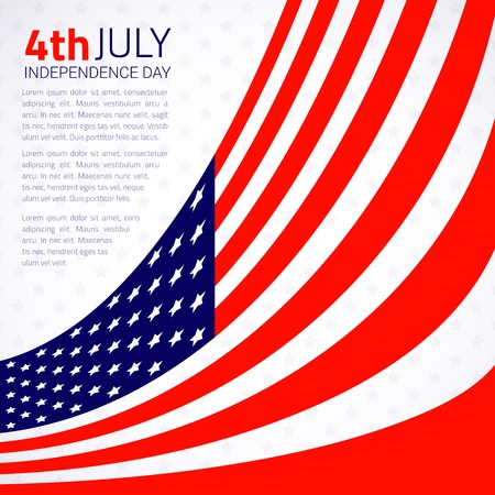 democratic: Stylish american Independence day design  Vector illustration Illustration