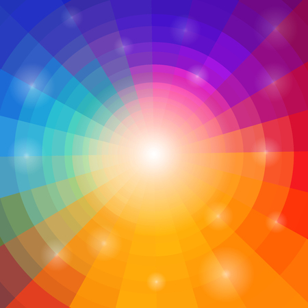 rainbow colors: Abstract circular colorful background Illustration