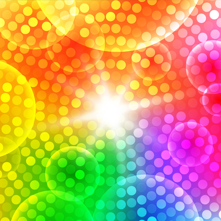 white party: Abstract circular colorful background Illustration