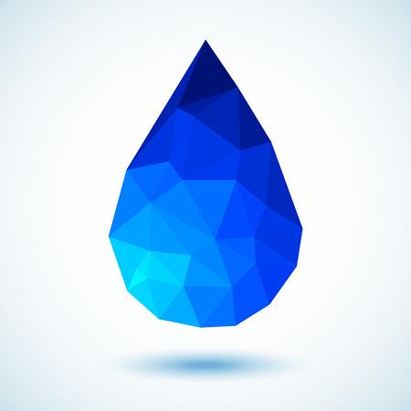 Geometrische Blue Drop