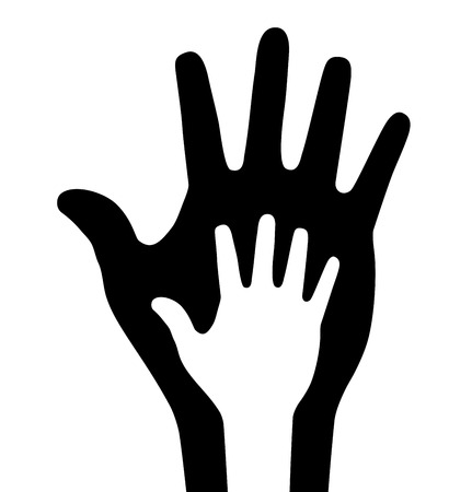 Caring thick hand Vector