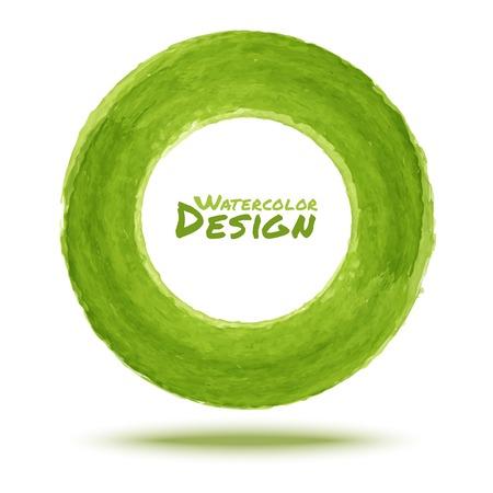 dabs: Hand drawn watercolor green circle