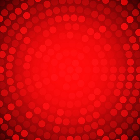 Circular Colorful Red Background  Ilustrace