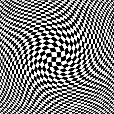 distort: Abstract Black - White Geometric Background