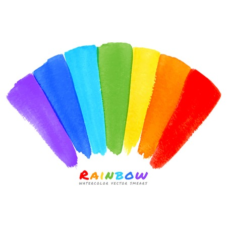 smears: Rainbow Watercolor Brush Smears