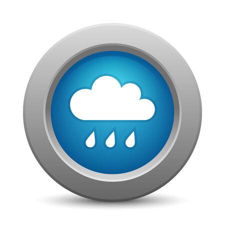 wheather forecast: Cloud button, vector illustration Illustration