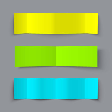 bended: Set of Bended Paper Colorful Banners with shadows Illustration