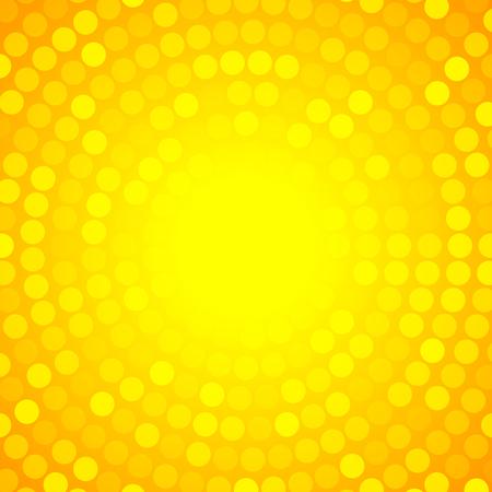 sun screen: Abstract Orange Circular Technology Background, Illustration