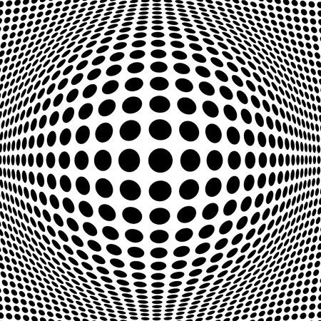 黒ハーフトーンの抽象的な背景