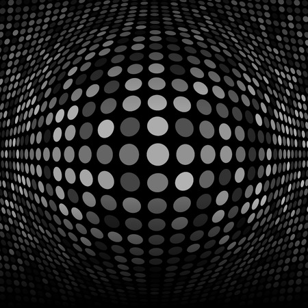 Abstract Dark Gray Technology Background Illustration