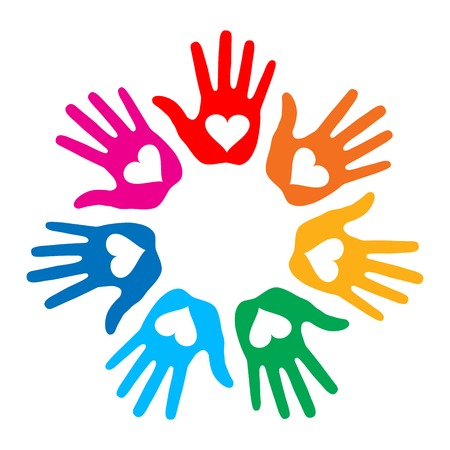 friendship circle: Loving Hand Print icon 7 colors