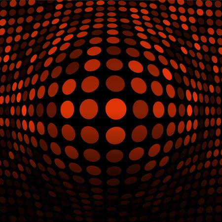 Abstract Orange Technology Background Illustration