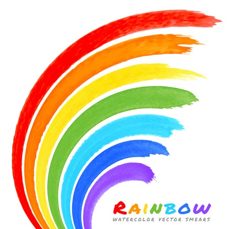 brushstroke: Rainbow Watercolor Brush Smears