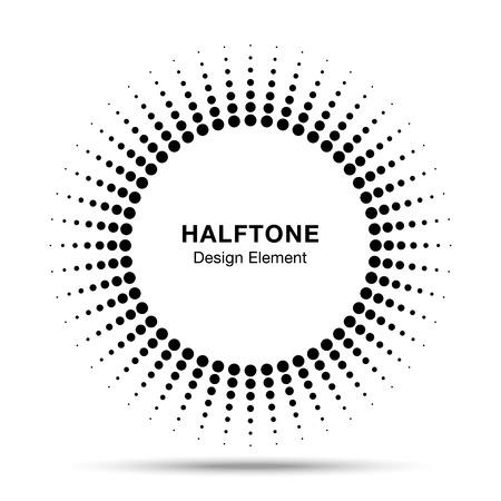 Black Abstract Halftone Design Element
