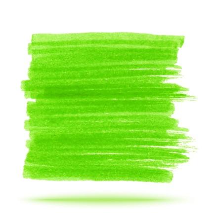 felt tip pen: Green Marker Stain Illustration