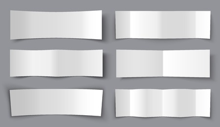 bended: Set of Bended Paper Banners with shadows