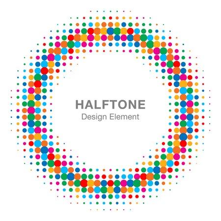 Colorful Bright Abstract Halftone Design Element Ilustração