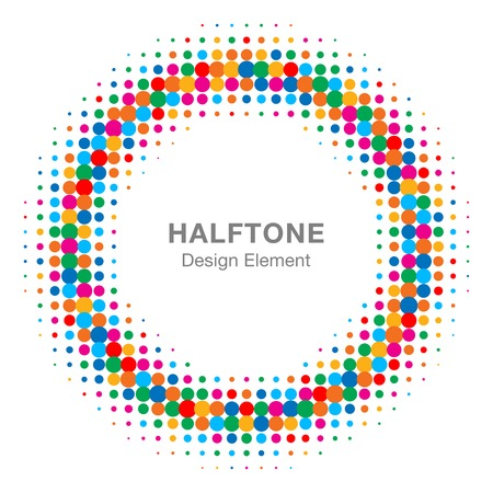 Colorful Bright Abstract Halftone Design Element Illustration