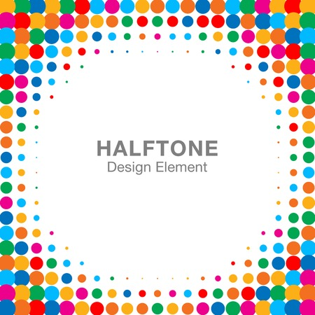 digital printing: Colorful Bright Abstract Halftone Frame