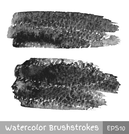 Gray Watercolor Brush Strokes Vector