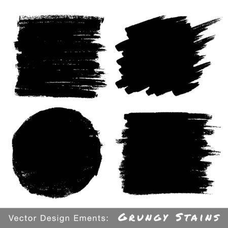 charcoal: Set of Hand Drawn Grunge backgrounds. Illustration